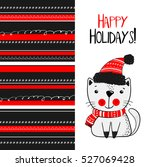 christmas and new year greeting ... | Shutterstock .eps vector #527069428