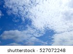 Small photo of Blue perfect sky sea of clouds from altitude space background