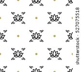 vector lotus seamless floral... | Shutterstock .eps vector #527075518