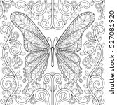 adult coloring book with... | Shutterstock .eps vector #527081920