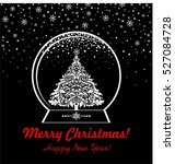black and white greeting... | Shutterstock .eps vector #527084728
