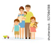 family portrait in flat style... | Shutterstock .eps vector #527086588