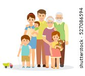 family portrait in flat style... | Shutterstock .eps vector #527086594