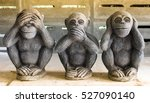 three monkey close up of hand... | Shutterstock . vector #527090140