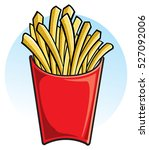 french fries | Shutterstock .eps vector #527092006