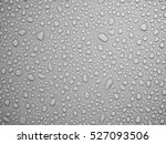 water drops on gray background. | Shutterstock . vector #527093506