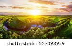 majestic sunset in the nature... | Shutterstock . vector #527093959