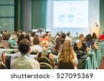 speaker giving a talk at... | Shutterstock . vector #527095369