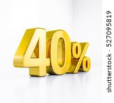 3d render  golden 40 percent... | Shutterstock . vector #527095819