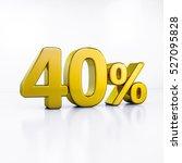 3d render  golden 40 percent... | Shutterstock . vector #527095828