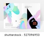 geometric background template... | Shutterstock .eps vector #527096953
