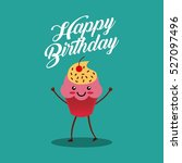 happy birthday card with... | Shutterstock .eps vector #527097496