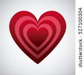 red heart shape over white... | Shutterstock .eps vector #527100304