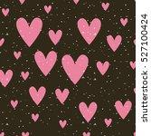 pink hearts background. love... | Shutterstock .eps vector #527100424