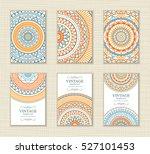set of vintage wedding... | Shutterstock .eps vector #527101453