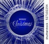 merry christmas silver...   Shutterstock .eps vector #527102254