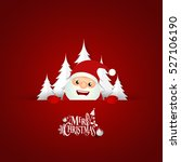 christmas greeting card with... | Shutterstock .eps vector #527106190