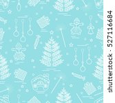 winter seamless pattern with... | Shutterstock .eps vector #527116684