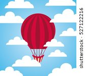 hot air balloon flying on the... | Shutterstock .eps vector #527122216