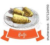 kulfi colorful illustration.... | Shutterstock .eps vector #527126950