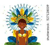 cartoon brazilian woman dancer... | Shutterstock .eps vector #527128039