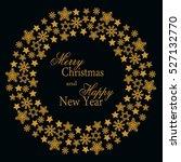 snowflake gold mandala. holiday ... | Shutterstock . vector #527132770