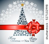 christmas tree from beautiful... | Shutterstock . vector #527132998