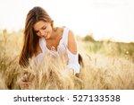 beautiful carefree woman in... | Shutterstock . vector #527133538
