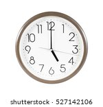 brown wall clock isolated on... | Shutterstock . vector #527142106
