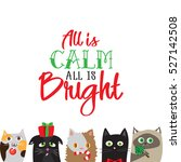 all is calm all is bright.... | Shutterstock .eps vector #527142508