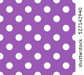 seamless purple polka dot... | Shutterstock .eps vector #527142940