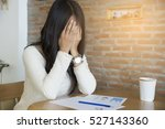 anxiety pregnant woman concept... | Shutterstock . vector #527143360