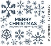 merry christmas and happy new... | Shutterstock .eps vector #527146690