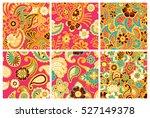 paisley mehndi seamless... | Shutterstock .eps vector #527149378