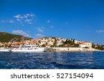 hvar town promenade seen from... | Shutterstock . vector #527154094