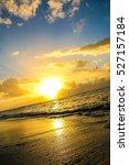 sunset on a beach | Shutterstock . vector #527157184