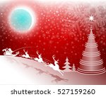 red background with santa claus ... | Shutterstock .eps vector #527159260