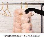 female hand in black velvet... | Shutterstock . vector #527166310