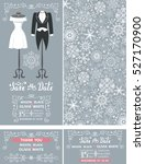 wedding invitation set.winter... | Shutterstock . vector #527170900
