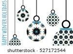 winter greetings card with... | Shutterstock .eps vector #527172544
