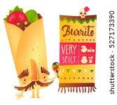 big burrito character with... | Shutterstock .eps vector #527173390