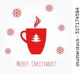 red christmas coffee mug... | Shutterstock .eps vector #527174584