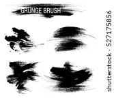 vector set of grunge brush... | Shutterstock .eps vector #527175856