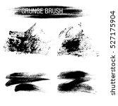 vector set of grunge brush... | Shutterstock .eps vector #527175904