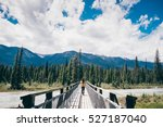 girl hiking at kootenay... | Shutterstock . vector #527187040