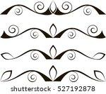 set of l decorative... | Shutterstock .eps vector #527192878