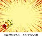 comic magazine loudspeaker... | Shutterstock .eps vector #527192908
