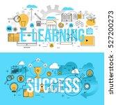 set of modern design concepts... | Shutterstock .eps vector #527200273