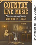 country live sound music... | Shutterstock .eps vector #527200834