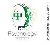 modern head logo of psychology. ... | Shutterstock .eps vector #527201044